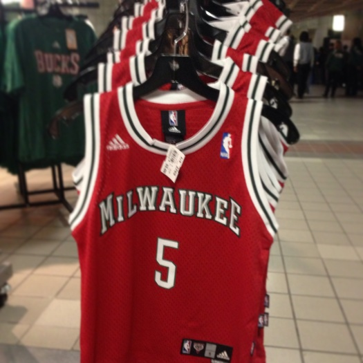 Jerseys of new Bucks guard J.J. Redick were available at the BMOHBC on February 23rd.