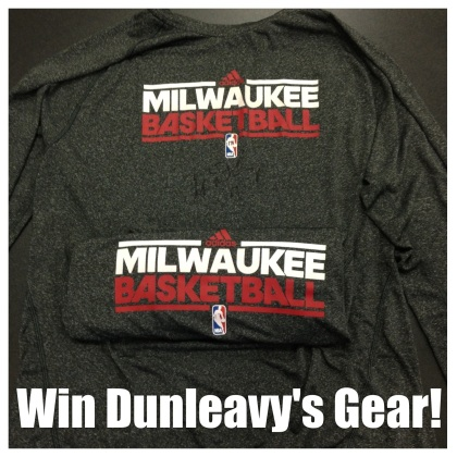 One lucky winner will win two of Mike Dunleavy's long sleeve practice shirts.